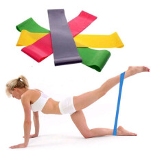 BESSKY 1PC Resistance Band Loop Yoga Pilates Home GYM Fitness Exercise Workout Training_ Multicolor