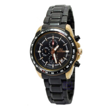 Mirage Ladies Edition D35H210MRG8305LBRPRG Date Jam Tangan Wanita Stainless Steel Chain - Hitam Black