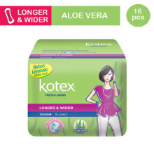 KOTEX Fresh Liner Longer & Wider Aloe Vera 16s