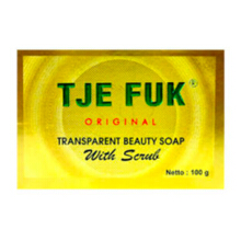 TJE FUK Transparant Soap Beautiful With Scrub 100g