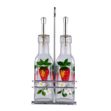 SINO Glass Tempat Minyak & Kecap Strawberry set of 2