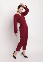 Shop at Banana Adam Jumpsuit Maroon All Size
