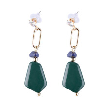 VOITTO Fashion Jewelry Vonly Emerald Stone V3 Earrings [Green]