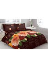 Sprei Bantal 2 Vito Disperse 180x200cm Roses - Brown