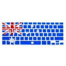 BESSKY Silicone Rubber Keyboard Skin for Macbook & Macbook Pro 13/15/17 inch  Australian Flag_ Multicolor