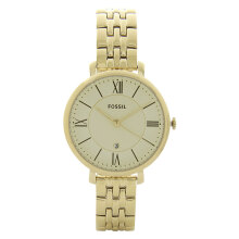 Fossil Ladies Jacqueline Gold Dial Gold Tone Stainless Steel Strap [ES3434]