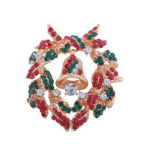 [COZIME] Christmas Brooch Dress Accessories Cartoon Broochwith diamond bell garland Multi-Colour