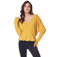 Fashionmall Fashion Woman V collar sleeve blouse