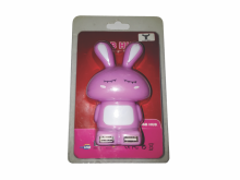 Bufftech USB Hub 4 Port Model Boneka Pink