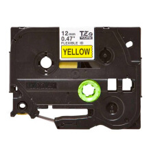 BROTHER Label Tape TZE-FX631 12MM Flexible Black on Yellow