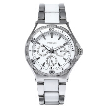 SWISS NAVY Ladies White Dial Dual Tone Stainless Steel [8322LSSWH]
