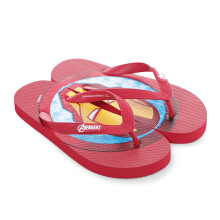 MARVEL Iron Man Icon Flip Flops for Kids  – Red
