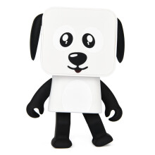 BESSKY Portable Wireless Bluetooth Dance Robot Dog Speaker Stereo Super Bass Speakers Hands-free_ White