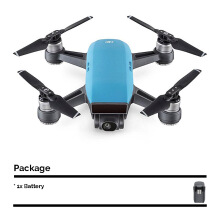 DJI Spark Mini Drone Fly More Combo with Extra Battery - Sky Blue