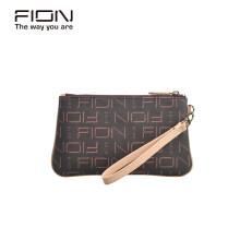 FION PU/Cow Leather  Pouch - Brown & Camel