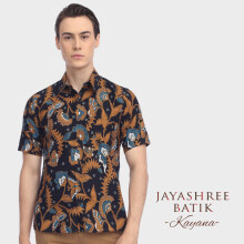 JAYASHREE BATIK Slim Fit Short Sleeve Kayana - Black