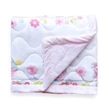 PILLOW PEOPLE Soft Blankent / Selimut Jahit Bulu owl - Pink / 120x 150