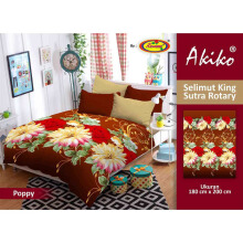 Selimut Akiko King Sutra Rotary Poppy - Multicolor