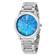 Michael Kors Hartman Turquoise Pearl Dial Stainless Bracelet Watch [MK3519]