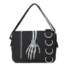 [COZIME] Fashion Men Bag Shoulder Messenger Bag Zipper Canvas Bag Casual Travel Bag Black1