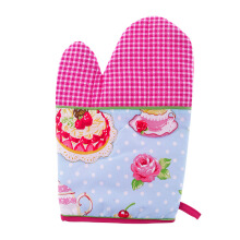 ARNOLD CARDEN Oven Mitts Tea Pot Right Side - Pink 17x25cm