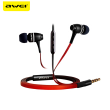 OAC-AWEI ES-80VI Metal Earphones In Ear Earphone Fone de ouvido Super Bass Stereo Auriculares Audifonos Headset Black