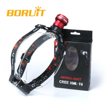 Boruit XM-L T6 LED 3xAA Zoomable Headlamp red Headlight Head Light Torch Flashlight Camping Fishing Cycling Rock Climbing