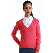 Fredperry Women -Pink V-Neck Sweatshirt S