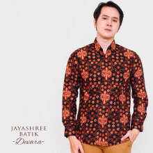 JAYASHREE BATIK Slim Fit Long Sleeve Devara - Black