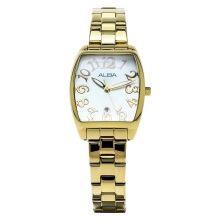 Alba Ladies White Dial Gold Stainless Steel [AH7K86X1]