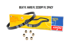 ASPIRA Paket V-Belt (V-Kit) Motor BEAT FI, VARIO FI, SCOOPY FI, SPACY FI - (H2-231PA-KZL-1200)