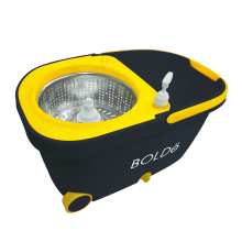 BOLDE VERONA SUPER MOP with Stainless Basket - Yellow Grey