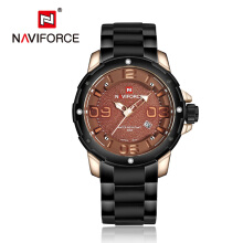 NAVIFORCE 9078 Men Watches business Quartz 30M waterproof watches stainless steel band auto date wristwatch