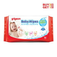 (DISCONTINUE) PIGEON Baby Wipes Pure Water 82'S [ Buy 2 Get 1 ] - PR040501