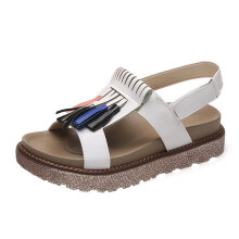 BESSKY Summer Women Tassel Platform shoes Casual Occasions Comfortable Sandals_