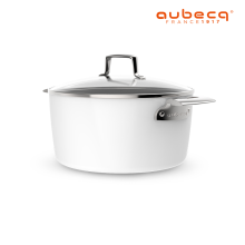 Aubecq Casserole with Cover 24cm A710324 White 24