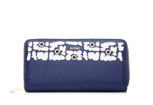 BONIA The Wall Zipper Wallet - Dark Blue Blue [860233-501-13]