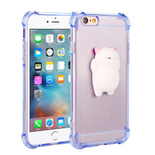 "BESSKY Squishy 3D Cute Lazy Cate Clear Silicone Back Soft Case Cover For iPhone 6Plus/6s Plus 5.5""_"