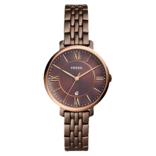 Fossil Jacqueline Ladies Brown Dial Rose Gold Case Brown Stainless Steel Strap [ES4275] Brown