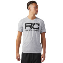 REEBOK Combat Mark Tee - Medium Grey Heather