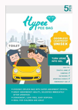 [free ongkir]PEE BAG - 5 Pcs (Kantong Urin Portable Purinoir Travel)