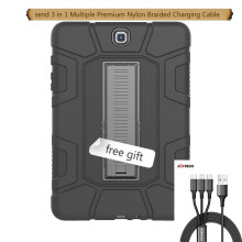 VEN C5 Case for TAB A 9.7 T550 Armor Shock Absorption Heavy Duty Silicone Hard Cover Shell with Stand+ Free Stylus Pe