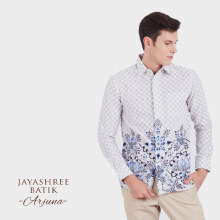 JAYASHREE BATIK Slim Fit Long Sleeve Ajuna - White