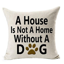 BESSKY Best Dog Lover Gifts Cotton Linen Throw Pillow Case Cushion Cover _ White