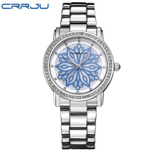 CRRJU luxury Dress Brand Fashion Watch Woman Ladies Rose gold Diamond relogio feminino Dress Clock female relojes mujer 2018 New