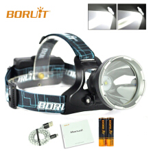 BORUiT Smart B10 XM-L2 LED 3 Modes 2200mAh PCB Battery USB Headlamp Hunting Camping Fishing Head Torch light Waterproof