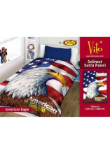 Selimut Vito Sutra Panel 150x200 American Eagle - Multicolor