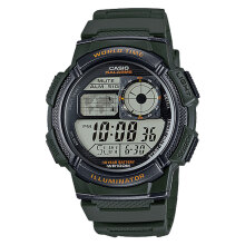 Casio AE-1000W-3AVDF - 10 Year Battery - Water Resistance 100M Green Resin Band [AE-1000W-3AVDF]