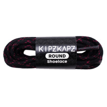 KIPZKAPZ RS3 Round Shoelace - Black Red [4mm]