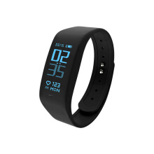 With Leda Dynamic Heart Rate Health Monitor Sports Pedometer Waterproof Smart Bracelet E-TLWB5 Black All Size